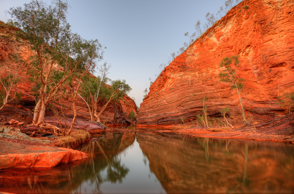 Hamersley Gorge in Australia.