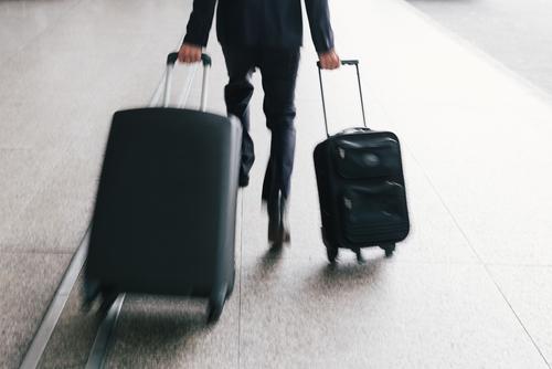 man traveling insurance